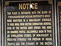 Plaque Memorializing 1919 Amritsar Massacre - Jallianwala Bagh - Amritsar - Punjab - India (12675316515).jpg