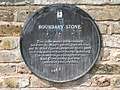 Plaque re the boundary stone, Deptford Wharf - geograph.org.uk - 1492561.jpg