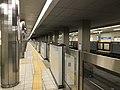 Platform of Awaza Station (Sennichimae Line) 5.jpg