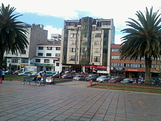 Sogamoso - Image: Plaza De La Villa Costado Norte Edificio Intercontinental