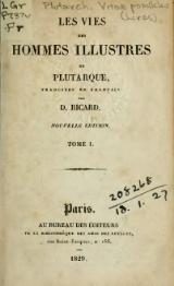 Plutarque - Vies, traduction Ricard, 1829, tome 1.djvu