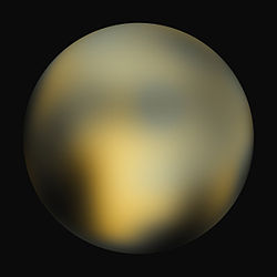Pluton vu par Hubble en 2010[1].