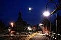 Point of Rocks Station at dusk, with a MARC train just arrived..JPG