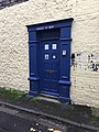 Police Box front door in Bridgend, Wales.jpg
