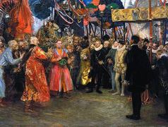 Polish envoys to King Henry III Valois, two worlds.PNG