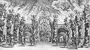Antonio Cesti - Scenography for Il pomo d'oro
