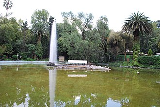 Parque México - Duck pond with fountain