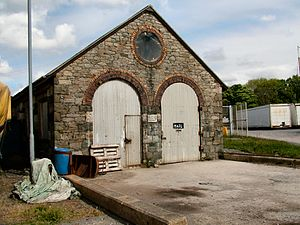 Penrhyn Quarry Railway - The railway's locomotive sheds at Port Penrhyn