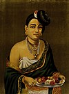 Portrait of a Nayar lady with distinctive hairstyle. Chromol Wellcome V0045060.jpg