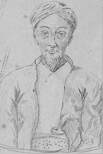 Pontianak Sultanate - Image: Portret van de sultan van Pontianak