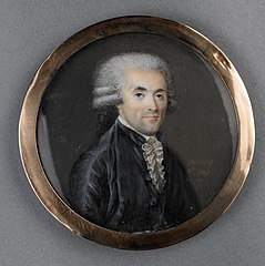 Portrait of a man on ivory