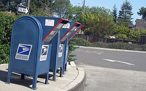 Drive-through - Drive-through mailboxes in USA.