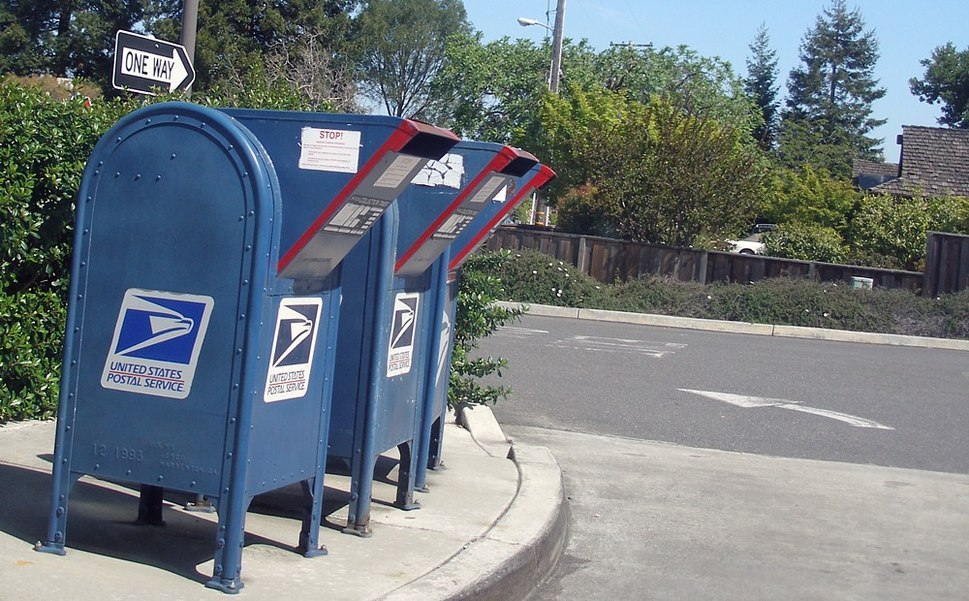 Post office drivethrough lane