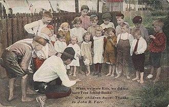 John R. Farr - Image: Postcard John R Farr Campaign When We Were Kids