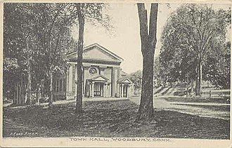 Woodbury, Connecticut - Town Hall, about 1907