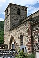Prades43 EgliseStAndre SFacade Belltower.jpg