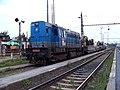 Praha-Hostivař, pracovní vlak EŽ, lokomotiva 740.676.jpg