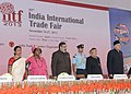 Pranab Mukherjee at the inauguration of 33rd India International Trade Fair (IITF-2013), at Pragati Maidan, in New Delhi. The Union Minister for Commerce & Industry.jpg