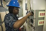 Pre-commissioning Unit Gerald R. Ford (CVN 78) Sailors prepare to own the ship 150414-N-XU135-046.jpg