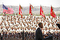 President Barack Obama, at lectern, speaks to U.S. Marines, Sailors and family members at Marine Corps Base Camp Pendleton, Calif., Aug. 7, 2013 130807-M-XZ164-0701.jpg