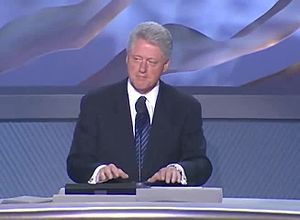 2000 Democratic National Convention - Bill Clinton speaking at the convention