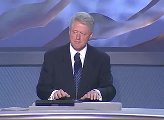 2000 Democratic National Convention - President Bill Clinton speaking at the convention