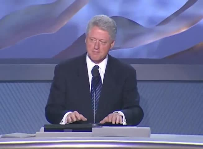 President Clinton's Remarks at the 2000 Democratic National Convention