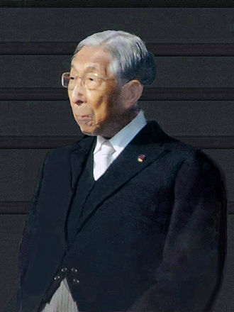 Takahito, Prince Mikasa - At the new year congratulatory imperial palace visit, 2 January 2012
