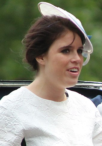 HRH Princess Eugenie of York, granddaughter of the Queen. Princess Eugenie, 2013 (cropped).jpg
