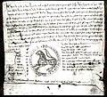 Privilégio do mosteiro de Sobrado outorgado por Afonso VIII de Galiza e Leom polo traslado de Betanços ò Castro de Úntia (1219).jpg
