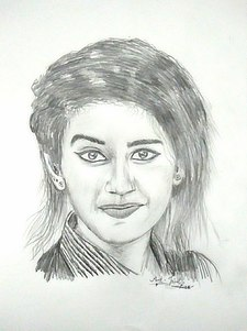 Priya prakash varrier's pencil drawing.jpg