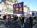Protest marchers in Princes Street (geograph 2126346).jpg