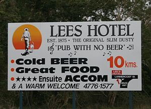 A Pub with No Beer - Pub with No Beer sign in Ingham Australia