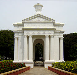 Park Monument (Aayi Mandapam) in the Government Park of Pondicherry
