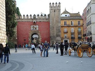 Alcázar of Seville - Puerta del León (Lion Gate)