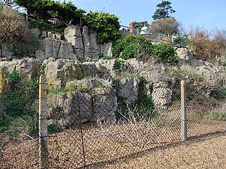Pulhamite - Pulhamite cliff walk at Bawdsey Manor