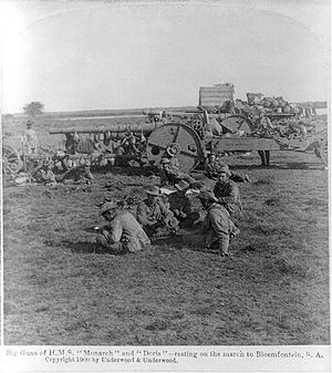 James Macdonald (engineer) - British artillery during Boer War – 4.7 inch field guns