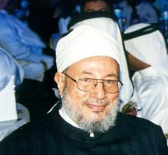 Yusuf al-Qaradawi - Yusuf al-Qaradawi during Annual Conference of International Union of Muslim Scholars