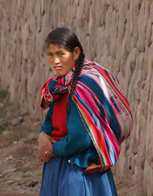 English: Quechua Woman