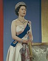 Queen Elizabeth II official portrait for 1959 tour