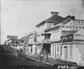 Queensland State Archives 5834 Queen Street from Edward Street before the 1864 fire Brisbane c 1860.png
