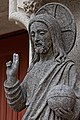 Quimper - Cathédrale Saint-Corentin - Portail - Statue du Christ - PA00090326 - 0001.jpg