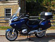 A BMW R1200RT touring bike