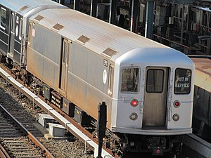 R127/R134 (New York City Subway car) - R134 EP011 at Corona Yard paired up with an R62A