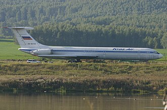 KrasAir - Image: RA 86708 Ilyushin IL.62 Kras Air (7404095380)