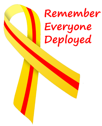 English: RED (Remember Everyone Deployed) Ribb...