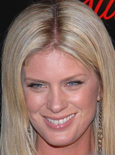 Rachel Hunter at Slim-Fast Fashion Show 3.jpg