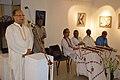 Radharaman Chakrabarty Addressing - Biswatosh Sengupta Solo Exhibition Inauguration - Kolkata 2015-07-28 3220.JPG