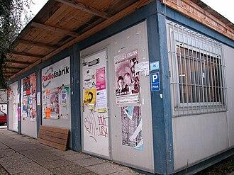 Radiofabrik - Studio of Radiofabrik in containers, until 2005