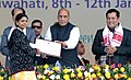 Rajnath Singh gave away the National Youth Award 2013-14, during the closing function of the 19th National Youth Festival, in Guwahati. The Minister of State for Youth Affairs and Sports (Independent Charge).jpg